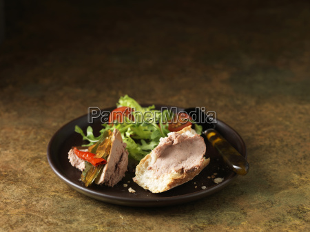 christmas snack of brussels pate with