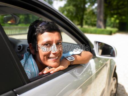 woman in a car shades