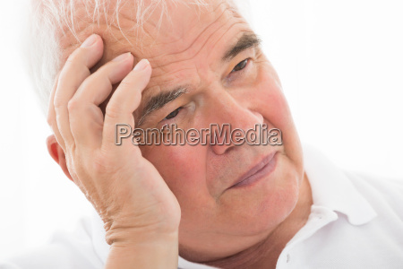 contemplated senior man