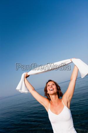 woman having fun