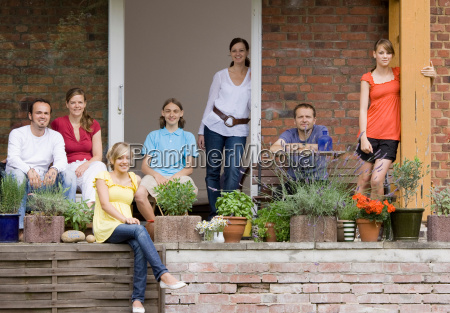 group portrait of a family on