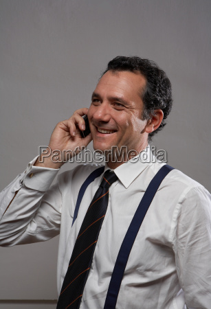 mature man in shirt and tie