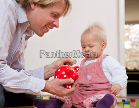 father saving for baby
