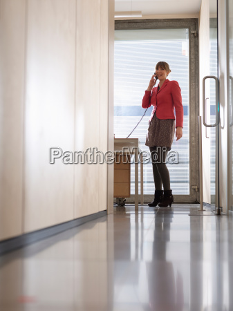 business woman in office on the