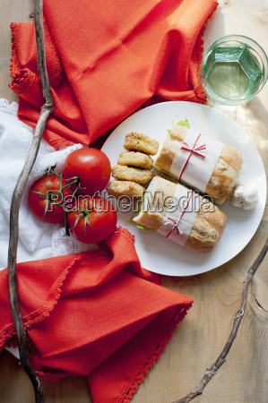ciabatta cookies and tomatoes