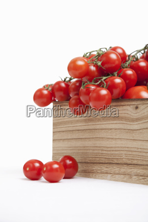 wood crate filled with fresh vine