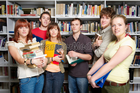 group of young people in a