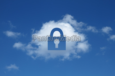 digitale composito di nuvola a forma