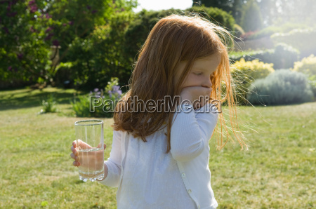 girl with glass of water in