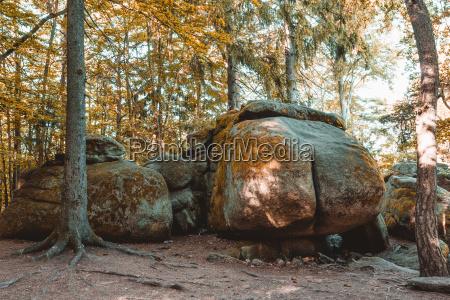 bello bella collina montagne parco pietra