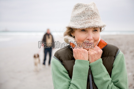 woman at the beach man and