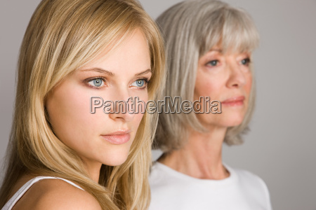 young woman and senior woman