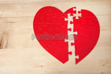 legno rotto san valentino problema puzzle