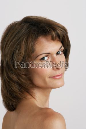 portrait of mid adult woman
