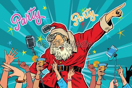 festa di natale cantante di babbo
