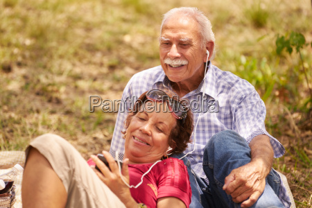 husband and wife senior man woman