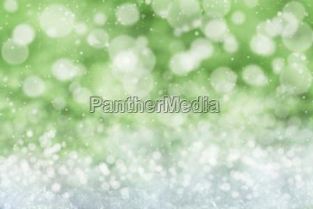 verde sfondo di natale con neve