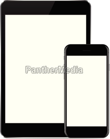 vector design mock up phone and