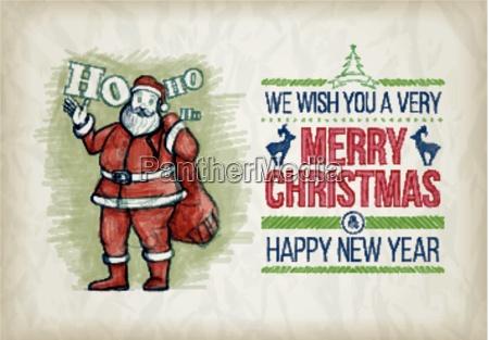 vector, hand, drawn, christmas, graphic, design - 19078627