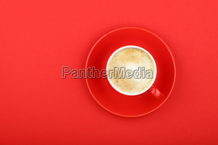 one latte cappuccino frothy coffee cup