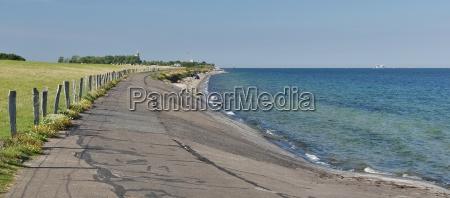 island fehmarn east coast dyke landscape