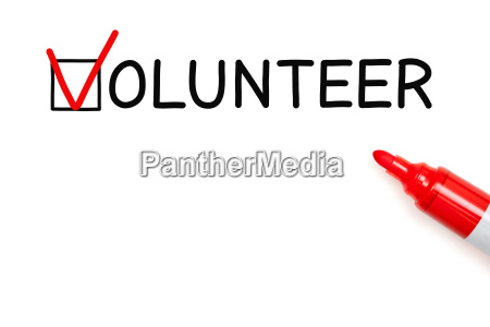 volunteer red marker check mark