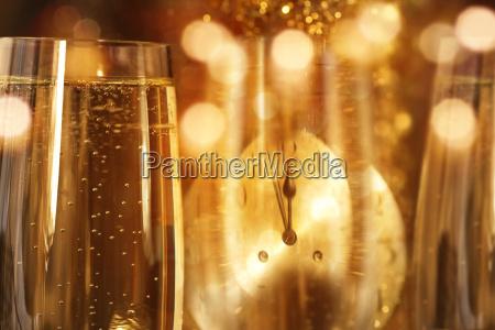 sfondo di capodanno con champagne