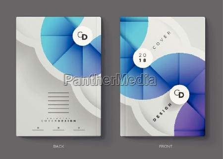 vector report annuale brochure volantino o