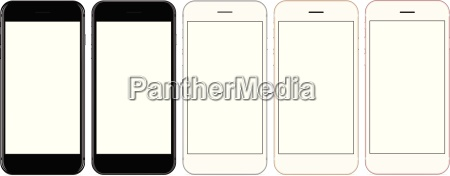 vector mockup phone front view on