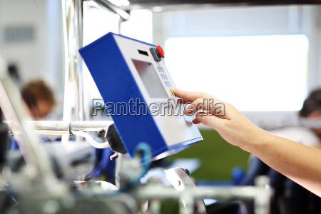 impianto di produzione funzionamento della macchina