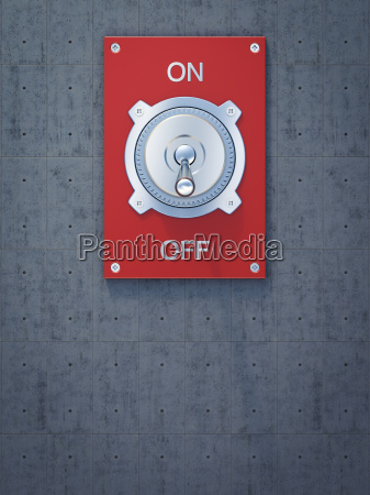 red flip switch on off rendering