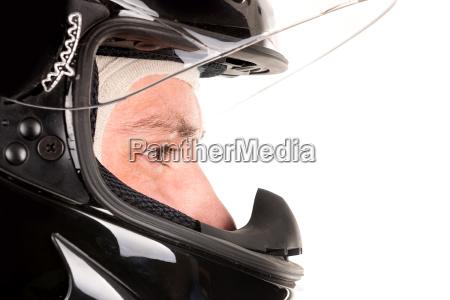 pilota da corsa con casco