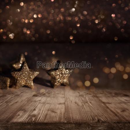 sfondo natalizio con stelle scintillanti