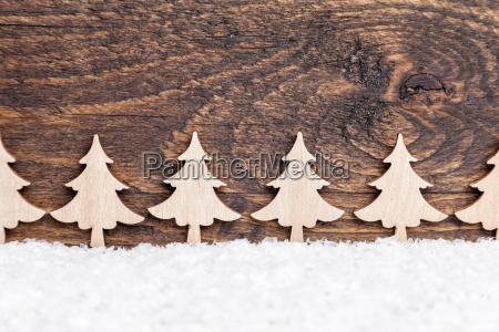 decorazione natalizia su sfondo in legno