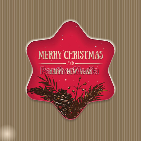 vector star christmas card design with