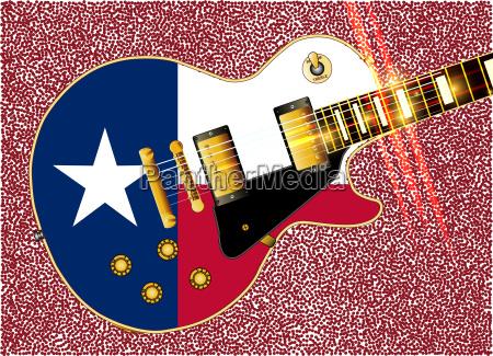 texas flag guitar guitar