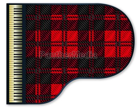 grand piano tartan flag