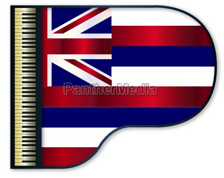 grand piano hawaii flag