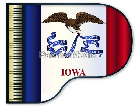 grand piano iowa flag