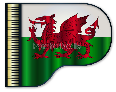 grand piano welsh flag