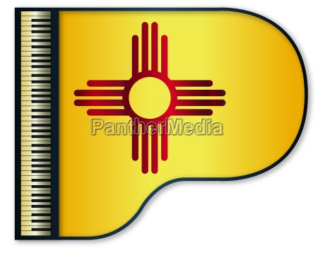 grand piano new mexico flag
