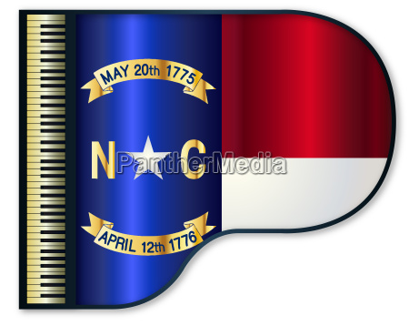 grand piano north carolina flag