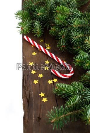 decorazioni, festive, con, canna, da, zucchero - 19410874