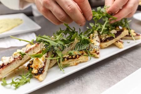 piatto, antipasto, decorato, dallo, chef - 19413120
