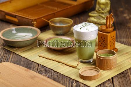 tè, verde, matcha, latte - 19413138