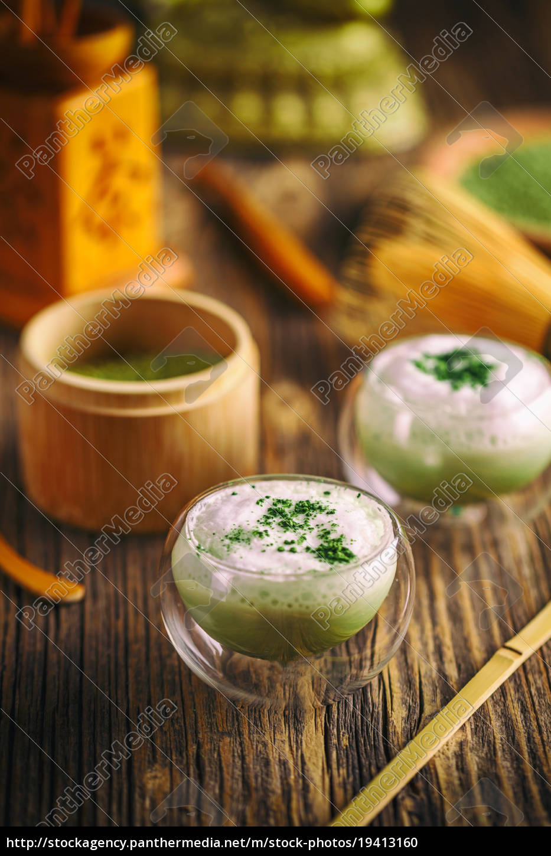 tè, verde, matcha, latte - 19413160
