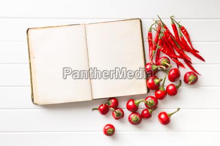 ricettario bianco e peperoncino piccante