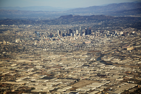 aerial view of cityscape los angeles