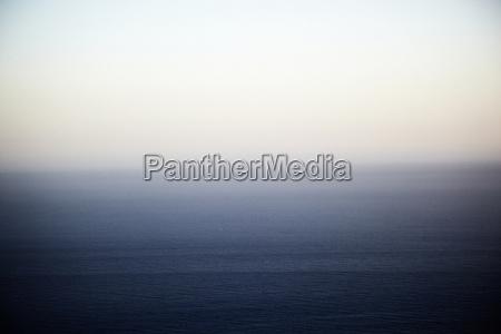 seascape and misty horizon malibu california