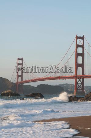 the golden gate bridge seen from